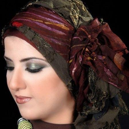 نحوه بستن روسری های مجری صدا سیما مدل های بسیار زیبای شال زنانه و دختران.