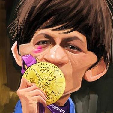 حمید سوریان در المپیک 2012 / کاریکاتور