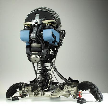 عکس مجسمه های ساخته شده از وسایل ماشین تایپ و تحریر