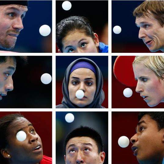 عکس ندا شهسواری در خبرگزاری رویترز / پینگ پنگ المپیک