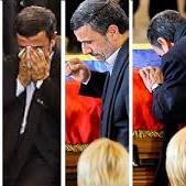 حاشیه های حضور احمدی نژاد در مراسم تشییع چاوز(+تصاویر)
