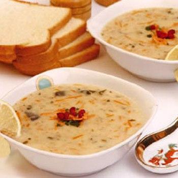 سوپ جو سفید در مایکروویو مخصوص افطار