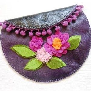 آموزش دوخت کیف چرمی ( کیف لوازم آرایش )