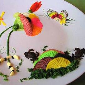 ایده هایی زیبا برای تزئین سالاد+عکس