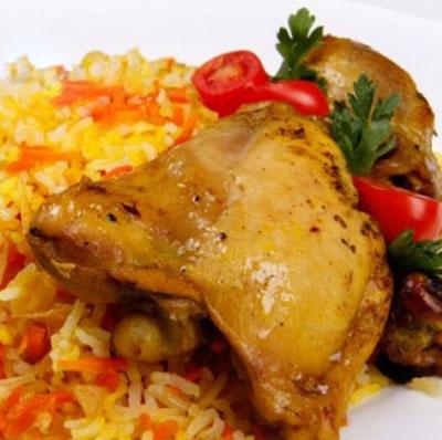 طرز تهیه ی هویج پلو با مرغ