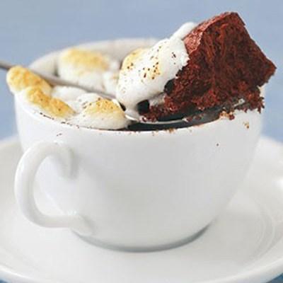 کیک شکلاتی گرم