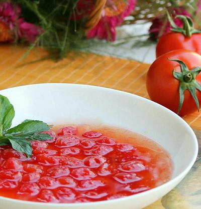 مربای گوجه فرنگی مینیاتوری یا گیلاسی