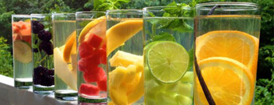 طرز تهیه آب طعم دار خانگی