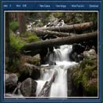 جنگل و آبشار