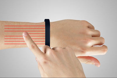 به کمک این مچ بند دستتان را به صفحه لمسی تبدیل کنید