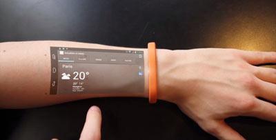این مچبند بازو را به صفحه لمسی تبدیل میکند