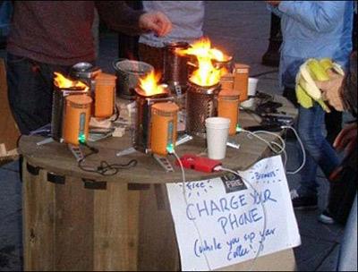 این اجاق گاز تلفن همراه شما را شارژ میکند!