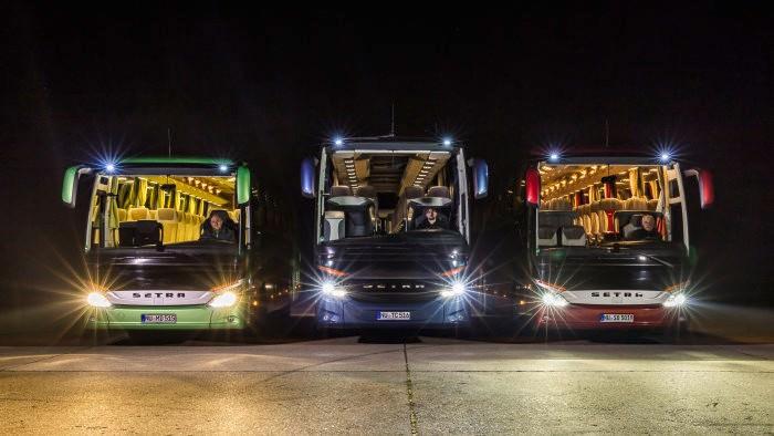بالا رفتن ایمنی اتوبوسهای دایملر با فناوری جدید چراغهای جلو LED
